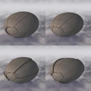 Vaisseau spatial C4D Sci-Fi A 003 non texturé 3d model