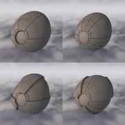Vaisseau spatial C4D Sci-Fi A 004 non texturé 3d model