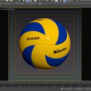 Mikasa MVA200 volleyball 3d model