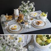 Vaisselle petit déjeuner 3d model