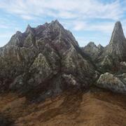 Dağ manzarası kayalık 3d model