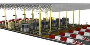 Toll Plaza Station 3d model