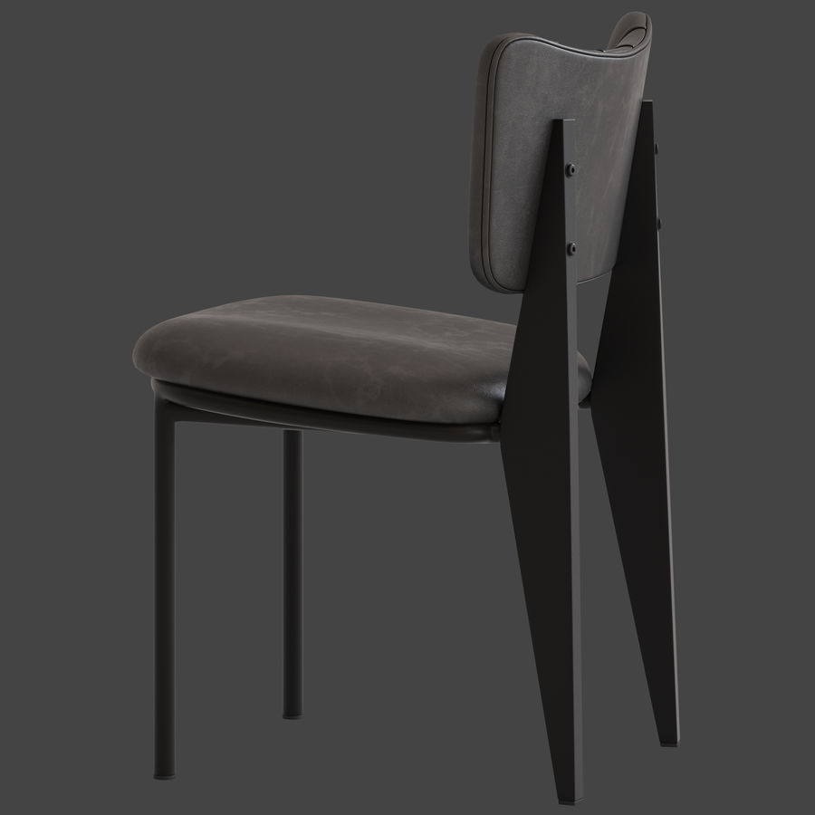 Cult Furniture Ottie Chair royalty-free 3d model - Preview no. 6