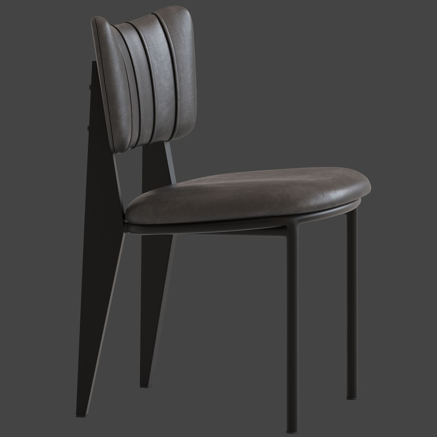 Cult Furniture Ottie Chair royalty-free 3d model - Preview no. 3