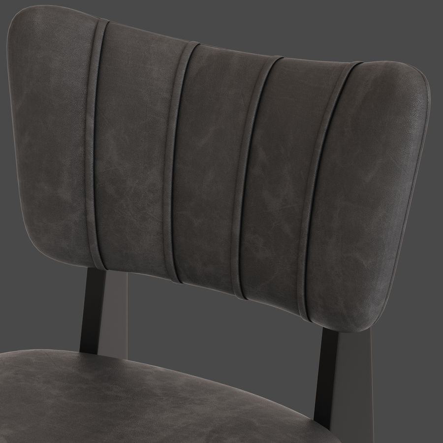 Cult Furniture Ottie Chair royalty-free 3d model - Preview no. 4
