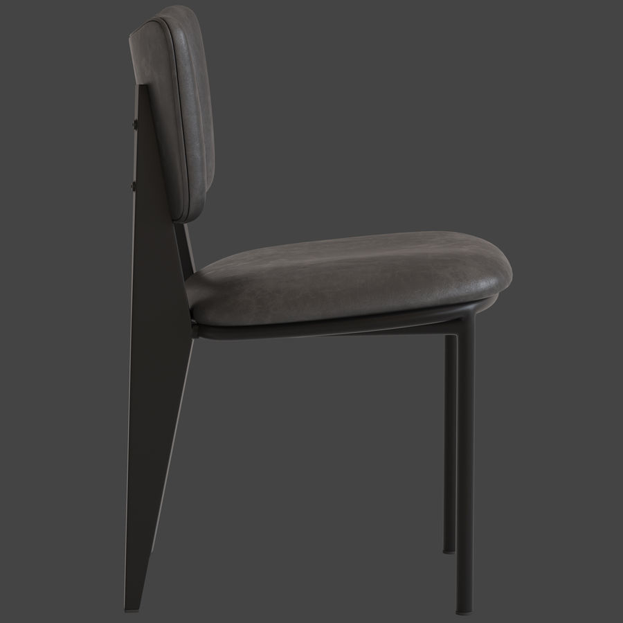 Cult Furniture Ottie Chair royalty-free 3d model - Preview no. 9