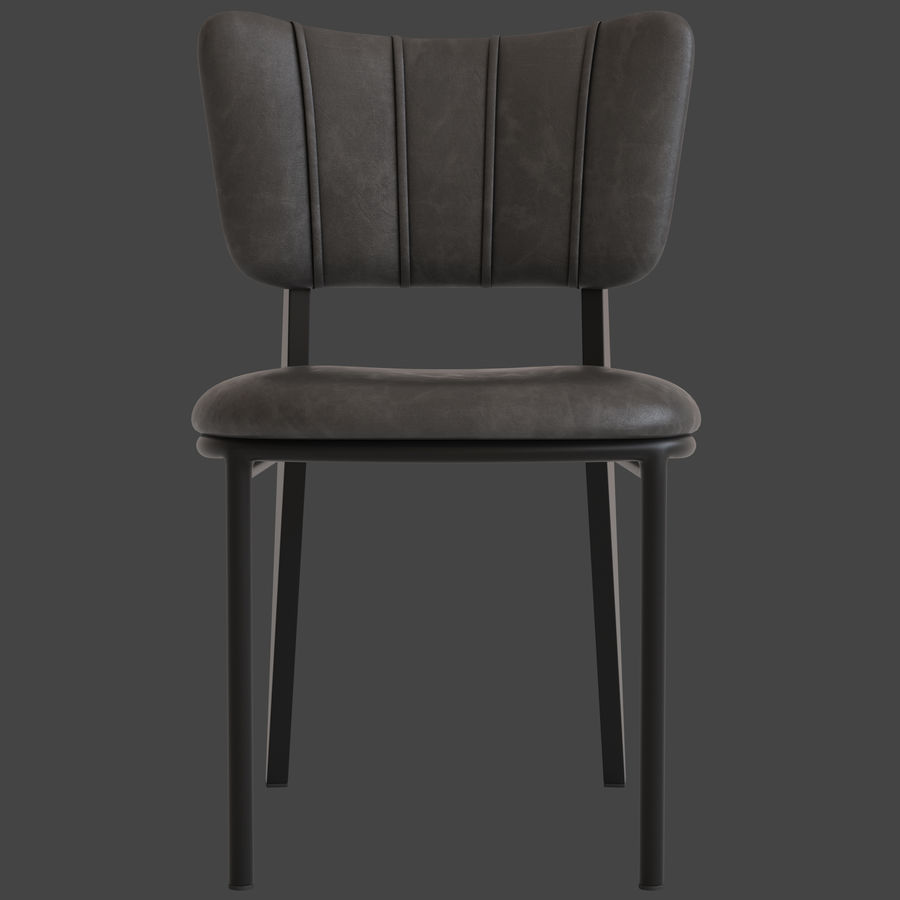 Cult Furniture Ottie Chair royalty-free 3d model - Preview no. 8