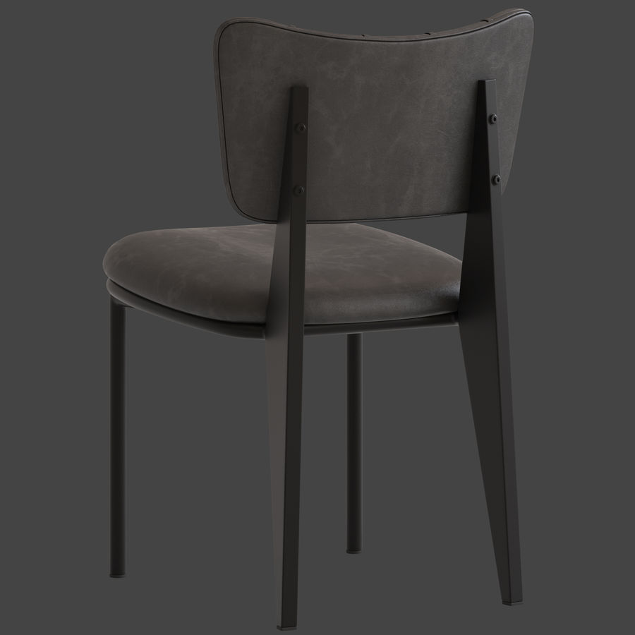 Cult Furniture Ottie Chair royalty-free 3d model - Preview no. 7