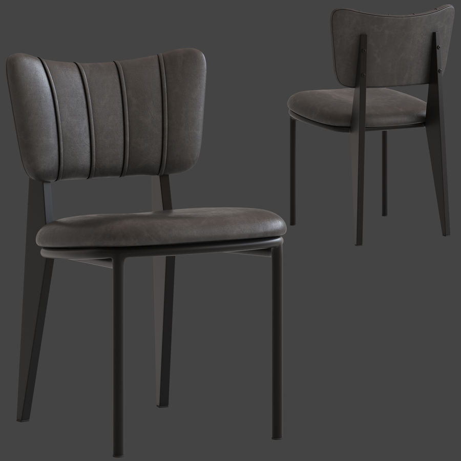 Cult Furniture Ottie Chair royalty-free 3d model - Preview no. 1