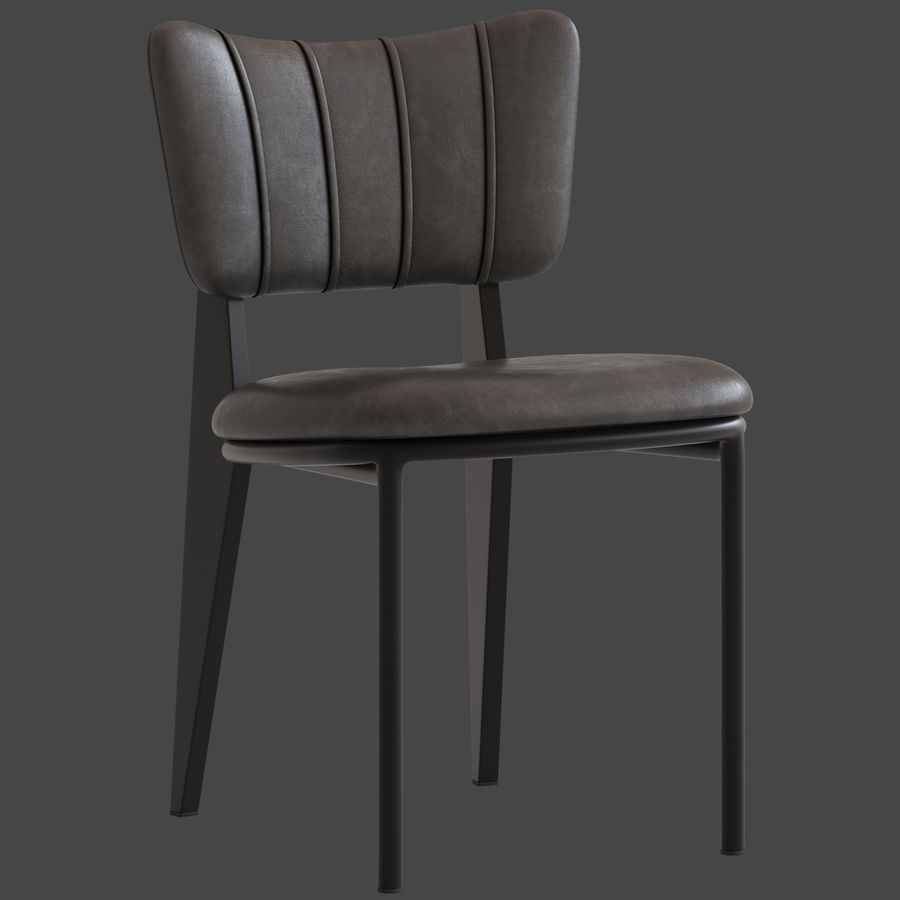 Cult Furniture Ottie Chair royalty-free 3d model - Preview no. 2