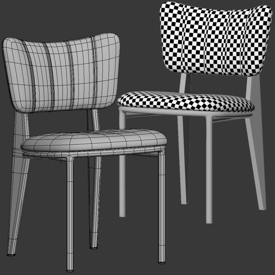 Cult Furniture Ottie Chair royalty-free 3d model - Preview no. 10