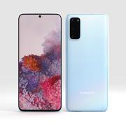 Samsung S20 Cloud Blue modelo 3d