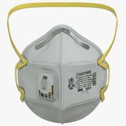 N95平折式呼吸器面罩 3d model