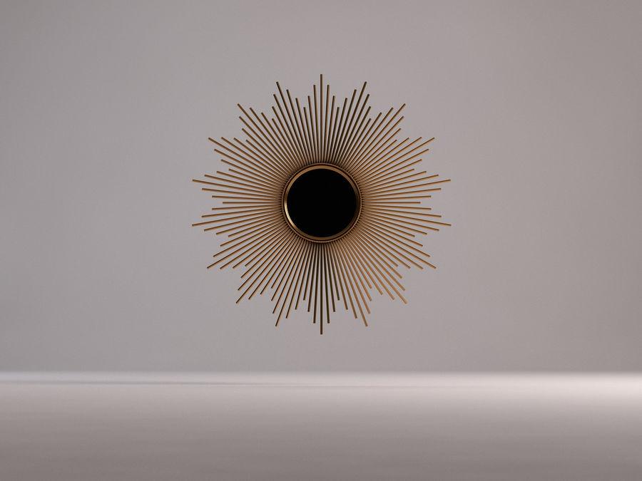 镜子-太阳杆和铜杆 royalty-free 3d model - Preview no. 13
