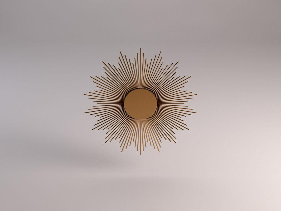镜子-太阳杆和铜杆 royalty-free 3d model - Preview no. 9