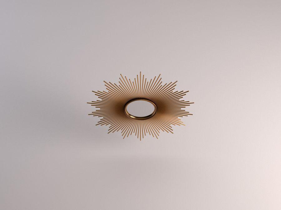 镜子-太阳杆和铜杆 royalty-free 3d model - Preview no. 11