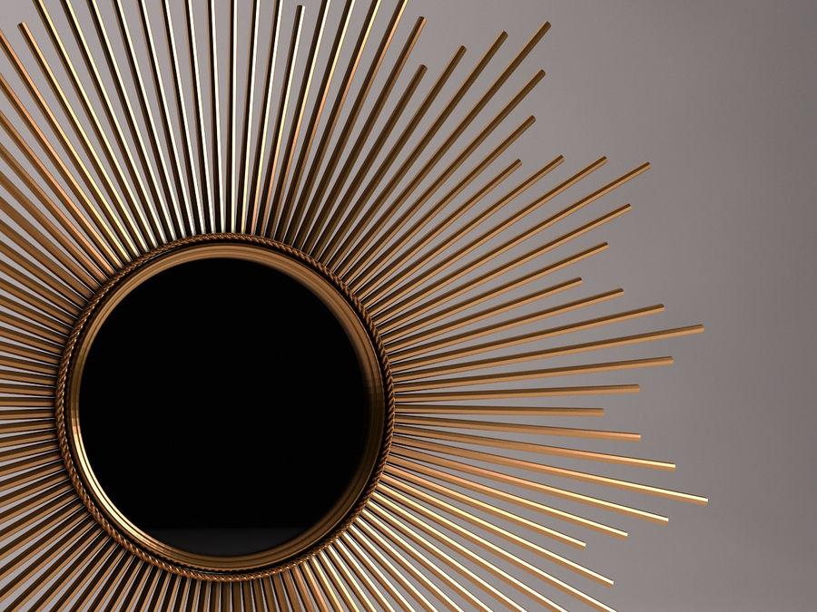 镜子-太阳杆和铜杆 royalty-free 3d model - Preview no. 15