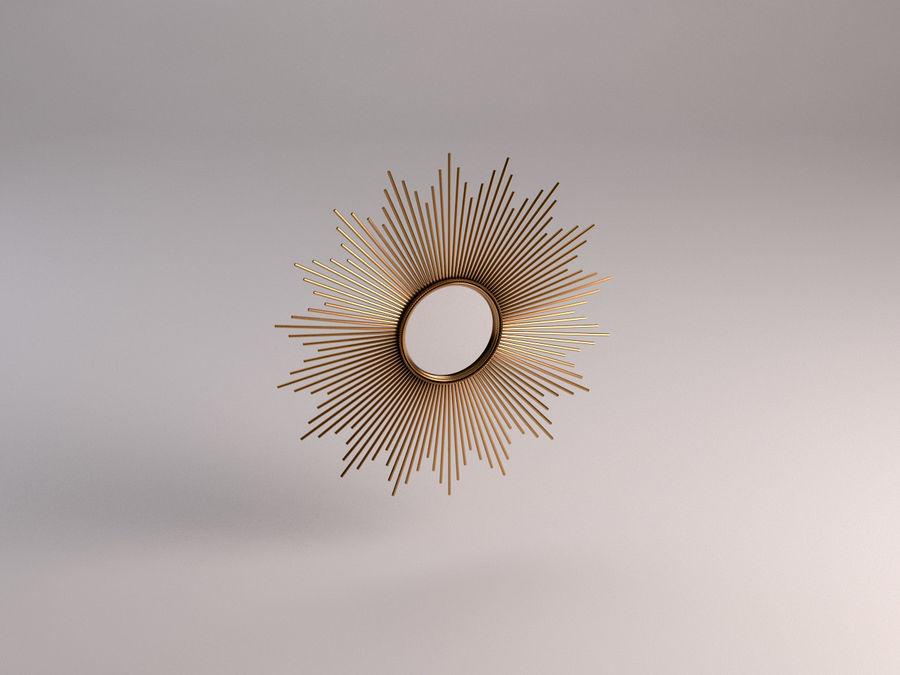 镜子-太阳杆和铜杆 royalty-free 3d model - Preview no. 2
