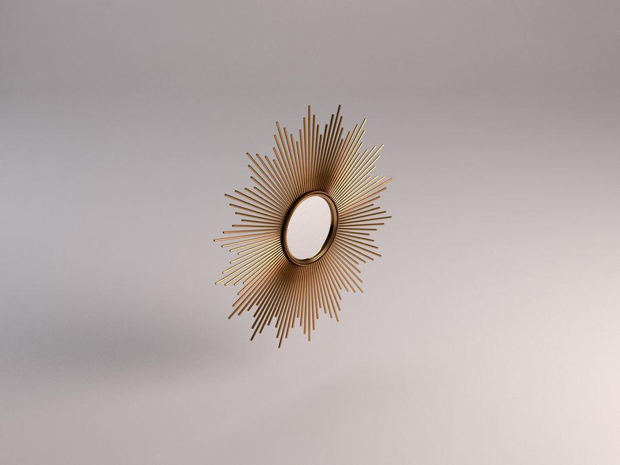 镜子-太阳杆和铜杆 royalty-free 3d model - Preview no. 3