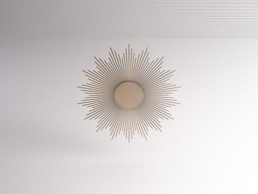 镜子-太阳杆和铜杆 royalty-free 3d model - Preview no. 18