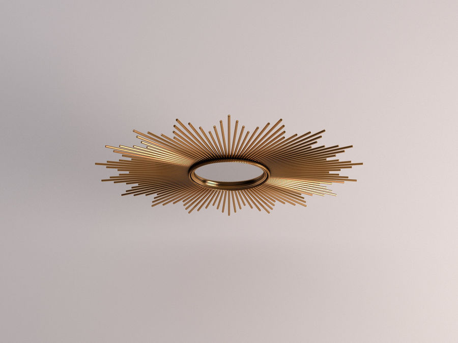 镜子-太阳杆和铜杆 royalty-free 3d model - Preview no. 16