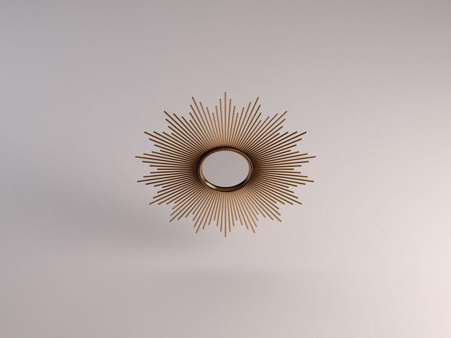 镜子-太阳杆和铜杆 royalty-free 3d model - Preview no. 10