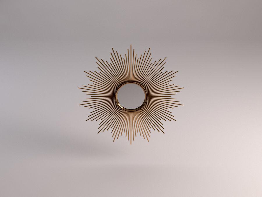 镜子-太阳杆和铜杆 royalty-free 3d model - Preview no. 1