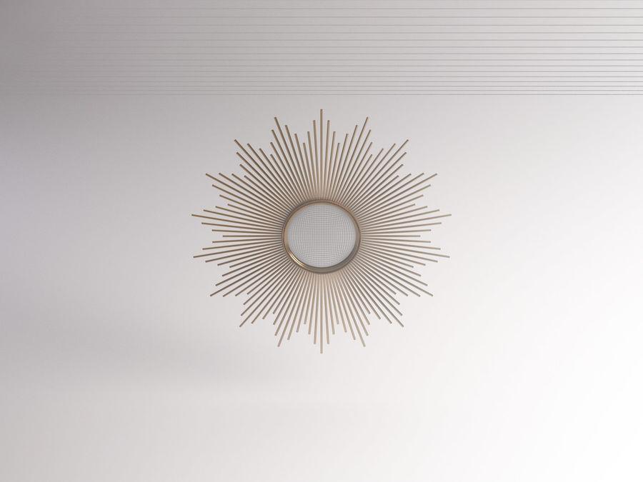 镜子-太阳杆和铜杆 royalty-free 3d model - Preview no. 17