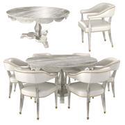 윌리엄 Yeoward Overbury 아침 식사 테이블 및 사용자 정의 의자 3d model
