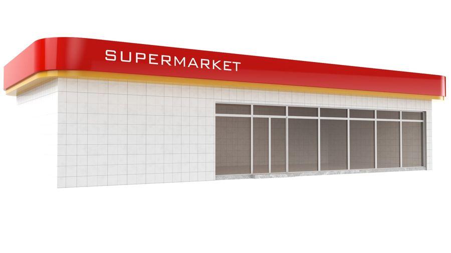 Supermercado royalty-free modelo 3d - Preview no. 2