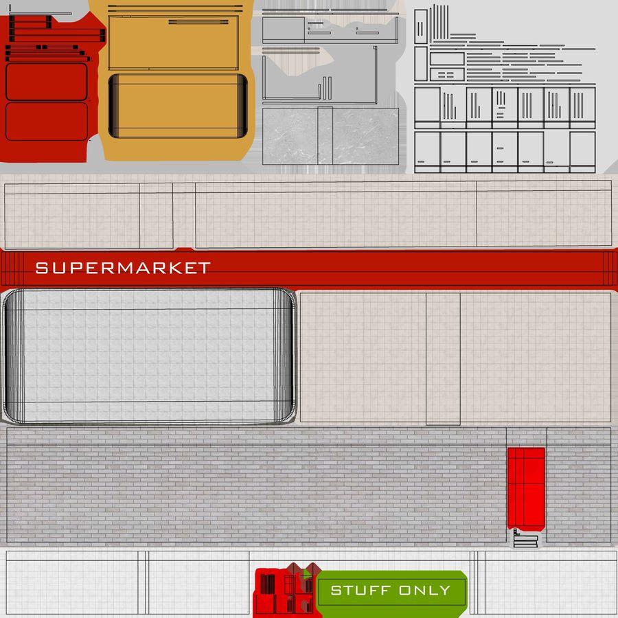 Supermercado royalty-free modelo 3d - Preview no. 9
