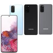 모든 색상의 Samsung S20 + 3d model