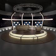 TV Studio Chat Set 20 3d model