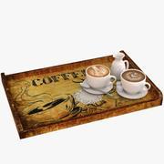 Koffie dienblad 3d model