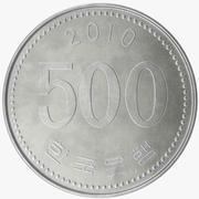 Южная Корея 500 вон монет 3d model
