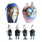 Bosa Primates Most Illustrious Sculpture Riccardo Dalis 3D model 3d model