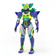Robot Blue 3d model