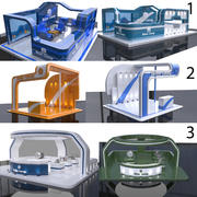 Exhibition stall collection 3d model