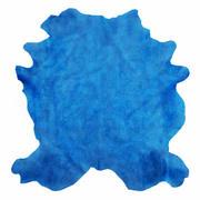 Tappeto in pelle di mucca blu 3d model
