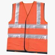 Colete de segurança laranja Hi Vis 3d model