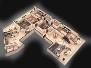 평면도 아파트 NB 3d model