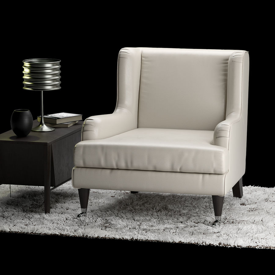 Natuzzi Natalie Armchair 3d Model 8 Unknown Obj Max Fbx Free3d