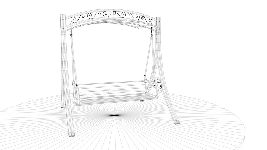 Outdoor Garden Swing Sofa hangmat royalty-free 3d model - Preview no. 24