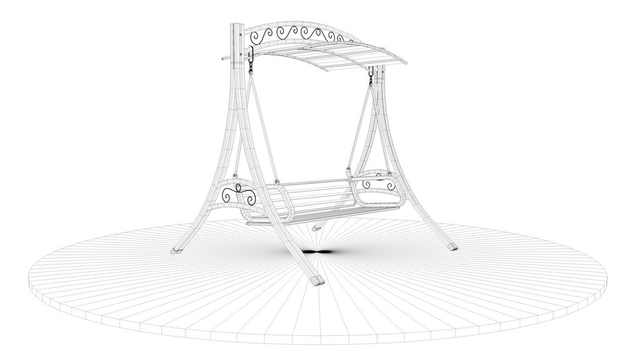 Outdoor Garden Swing Sofa hangmat royalty-free 3d model - Preview no. 18