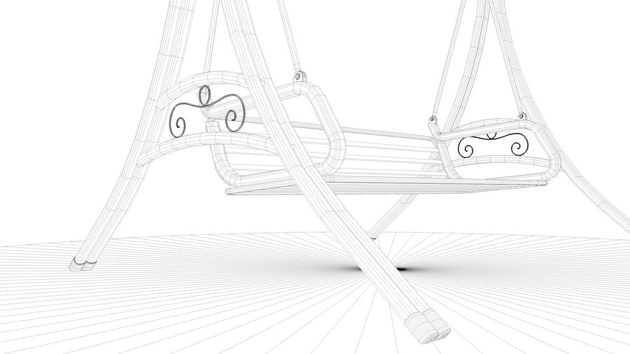Outdoor Garden Swing Sofa hangmat royalty-free 3d model - Preview no. 21