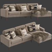 Культовая Мебель Мэдисон Диван с Шезлонгом 3d model