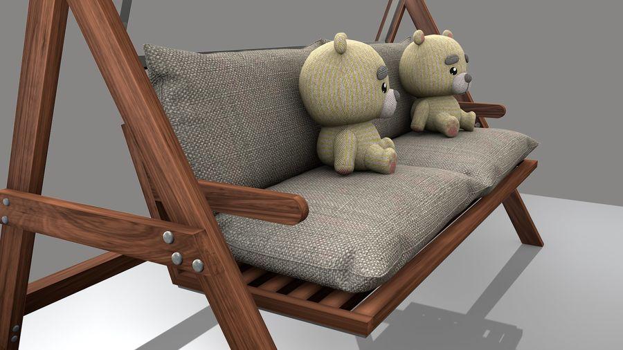 Outdoor Garden Swing Sofa hangmat royalty-free 3d model - Preview no. 8
