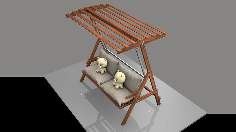 Outdoor Garden Swing Sofa hangmat royalty-free 3d model - Preview no. 2