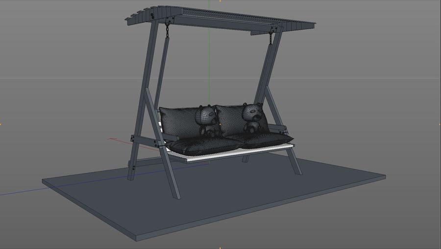 Outdoor Garden Swing Sofa hangmat royalty-free 3d model - Preview no. 11