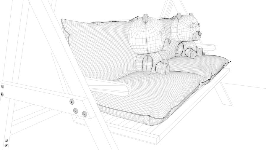 Outdoor Garden Swing Sofa hangmat royalty-free 3d model - Preview no. 25